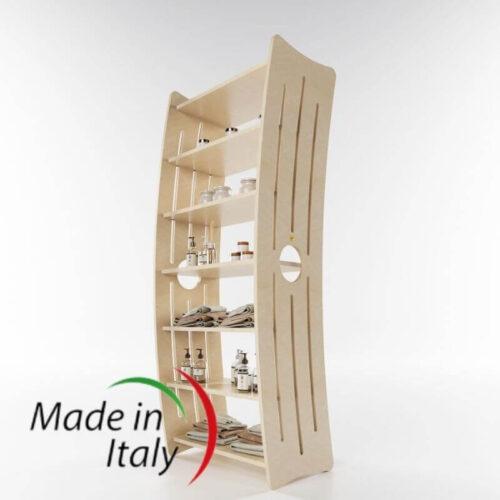 mobile scaffale per esporre prodotti, color betulla naturale