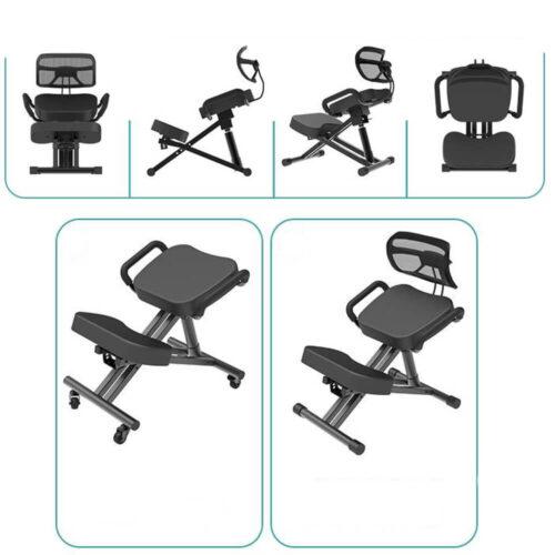 la sedia ergonomica con schienale vista da varie angolazioni