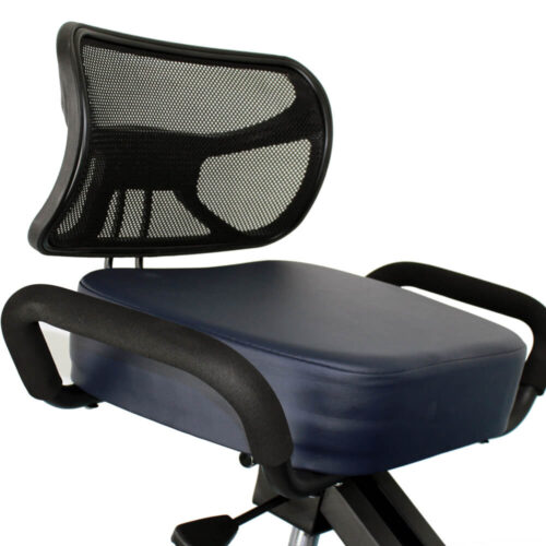 schienale e sedile con poggia mani della sedia ergonomica