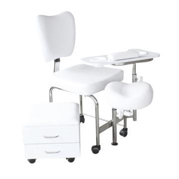 sedia manicure e pedicure bianco DP-3506