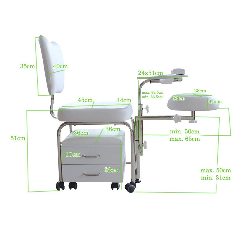 sedia manicure e pedicure DP-3506 misure