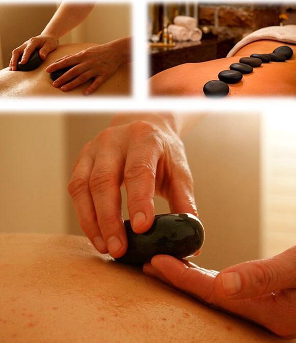 set pietre basaltiche stone massage illustrazione uso