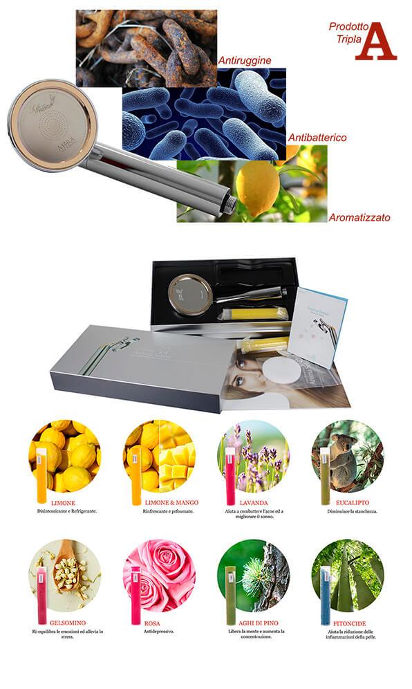 caratteristiche e filtri del soffione premium di mira sas