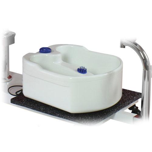 vasca piedi su poltrona pedicure, mod. 100